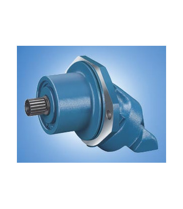 Axial piston hydraulic motor with tilted plate