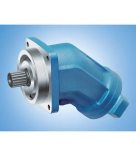 Axial piston hydraulic motor with tilted plate and bent axis
